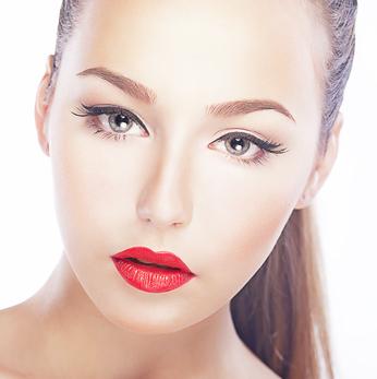 permanet makeup instruction look image school